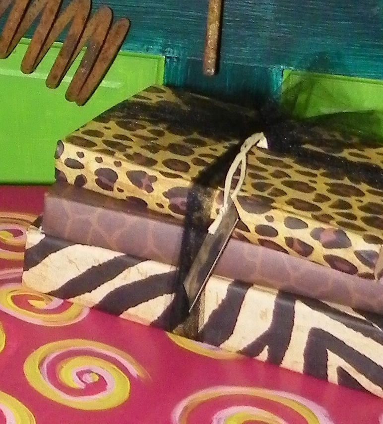 Animal Print books with black tool