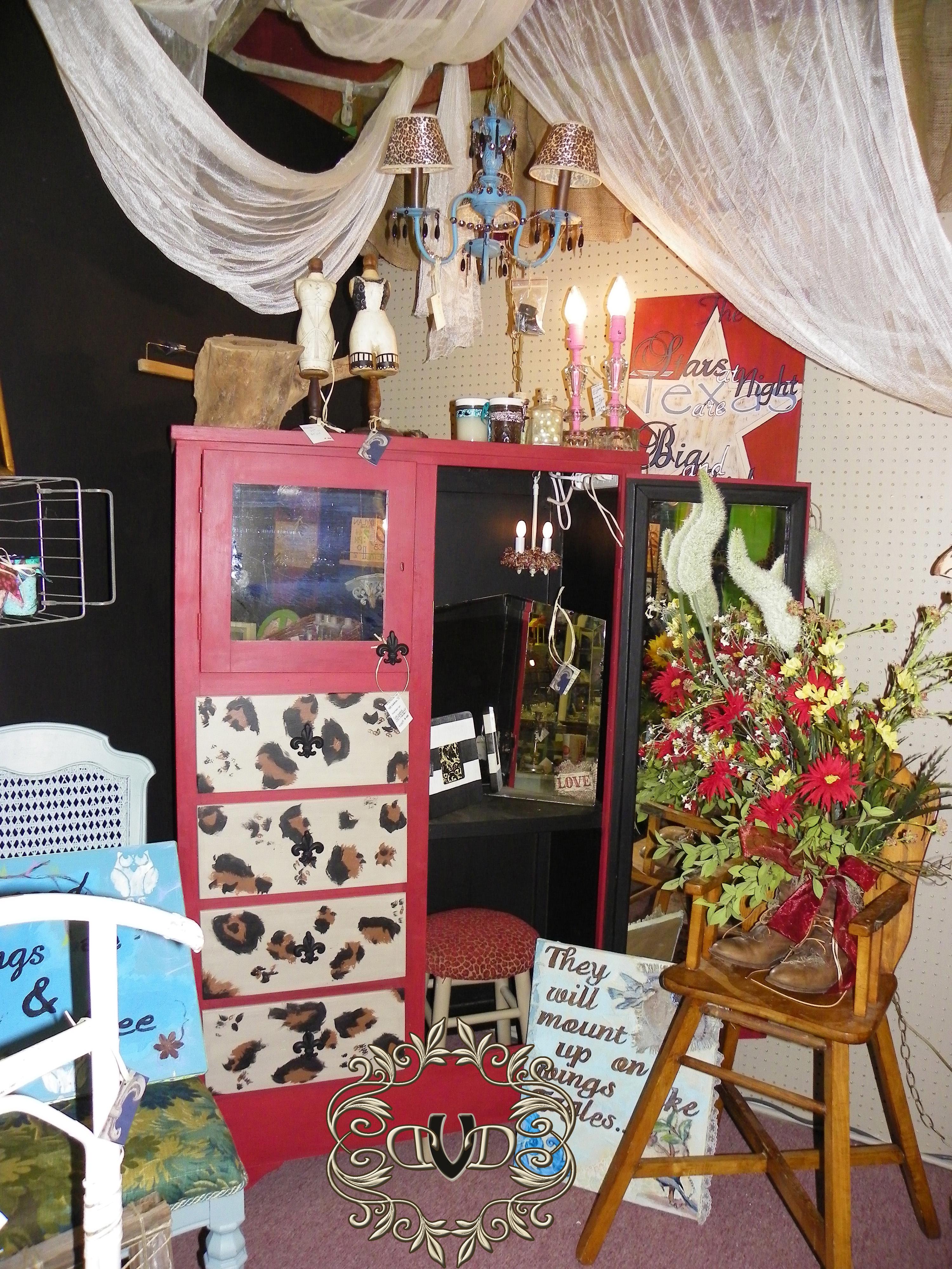 Leopard Print Dresser