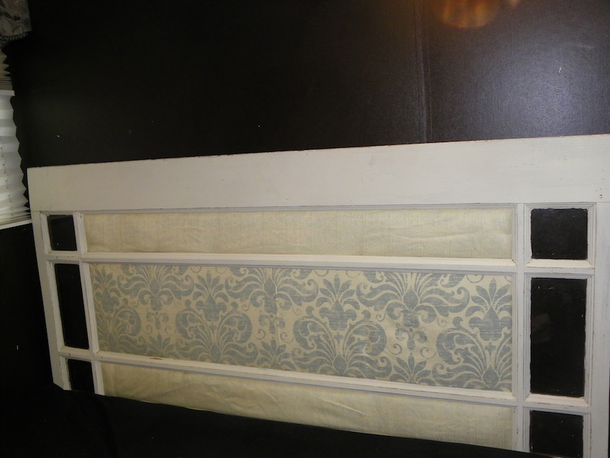 Headboard from an old door
