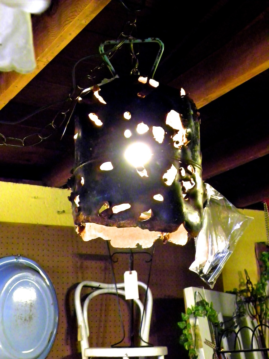 repurposed junk into lights, lights from junk, unique lighting ideas, butane tank into lighting