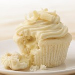 White Chocolate Cupcakes with Truffle Filling