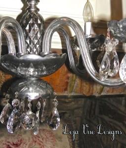 faux mercury chandelier, beautiful lighting