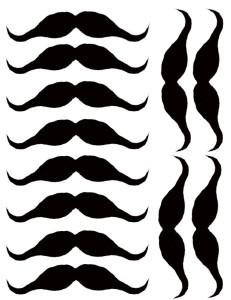 Moustache Printables - Deja Vue Designs