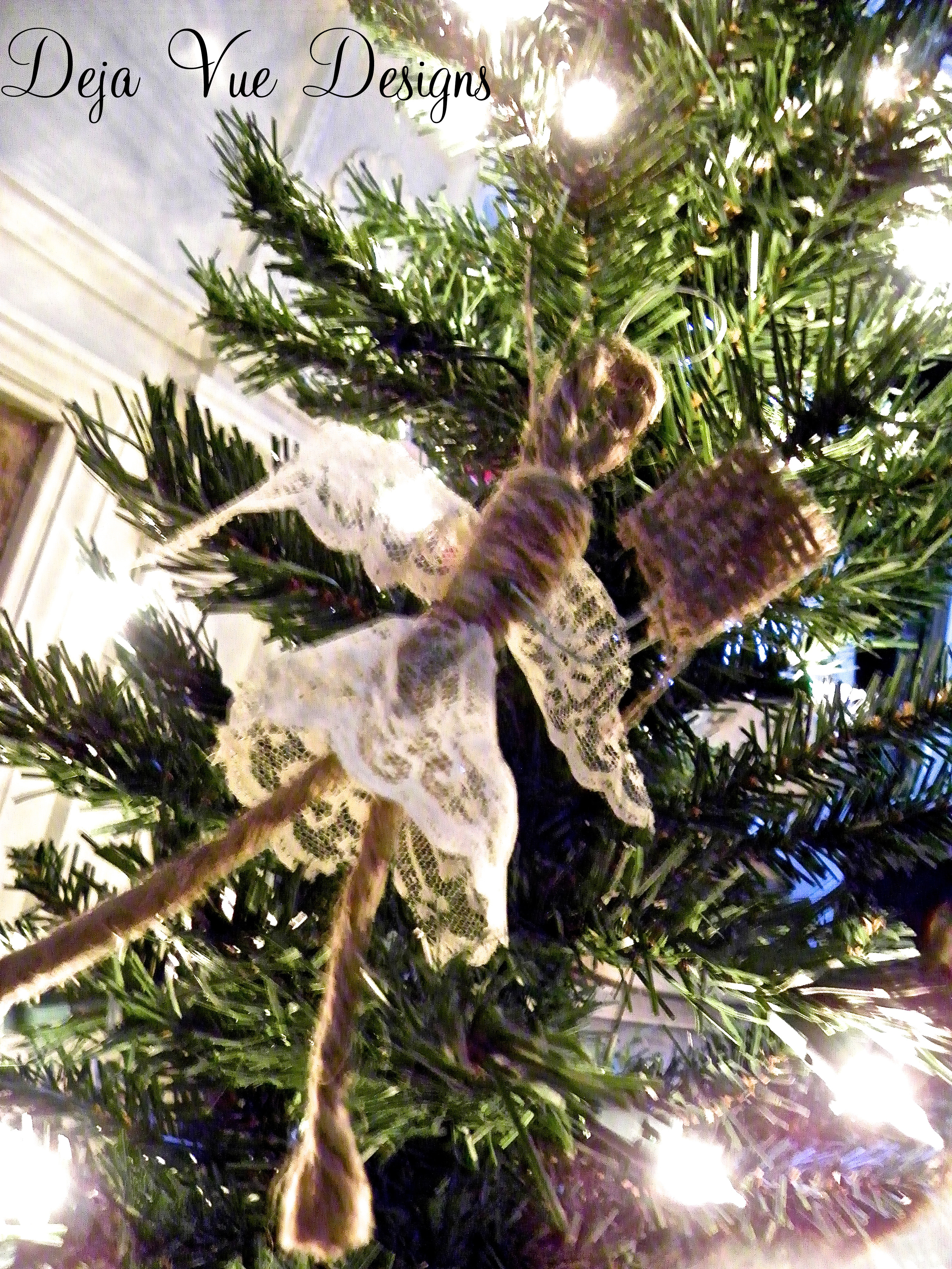 jute and lace angel
