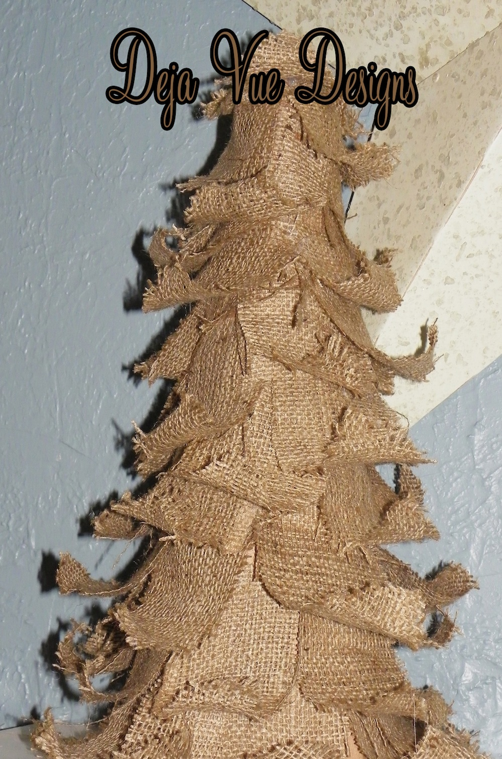 Tattered Burlap Christmas Tree
