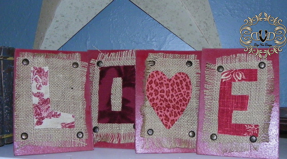 Love burlap and fabric art