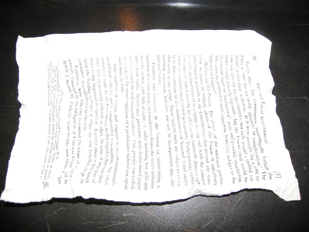 aging paper technique