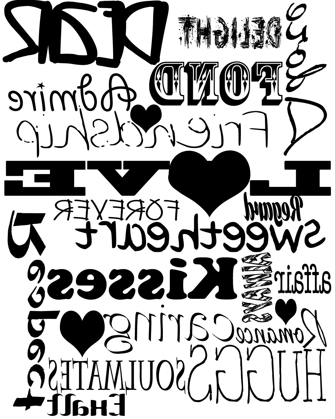 Love Typography mirror