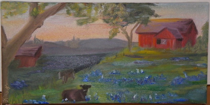 Lazy Spring Evening in East Texas Oil Painting