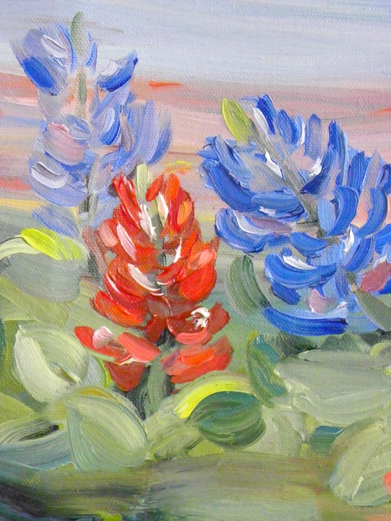 Springtime Texas Oil Painting
