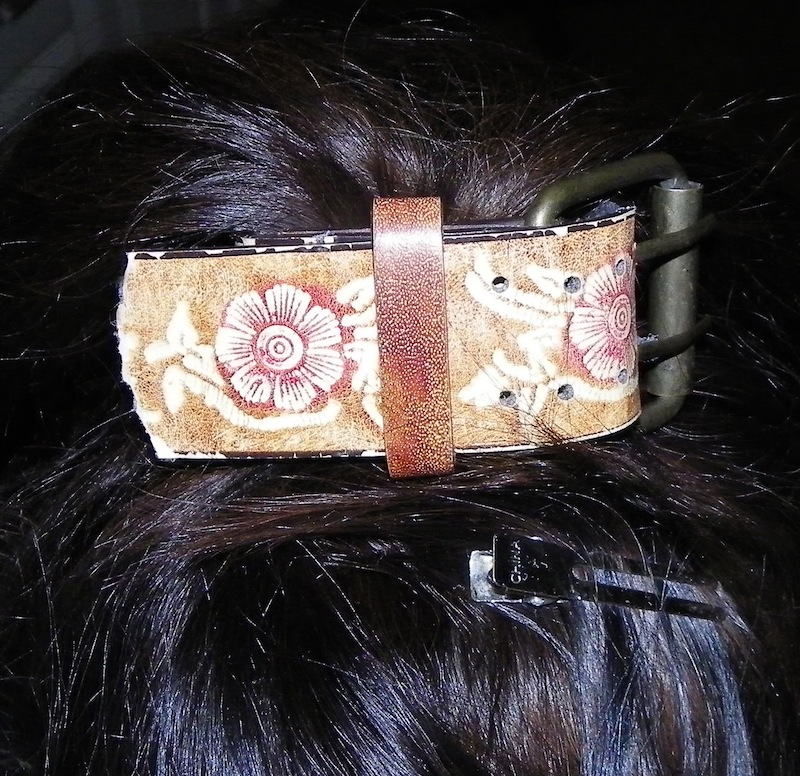 dressing up a ponytail with a cool bracelet