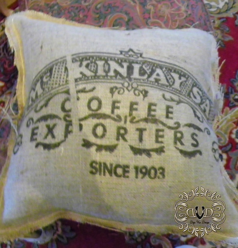 Goodwill Pillow with coffee bag cover