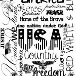 Americana Printable