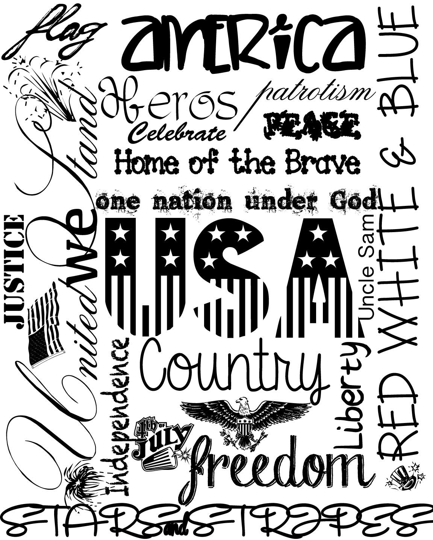America Printable