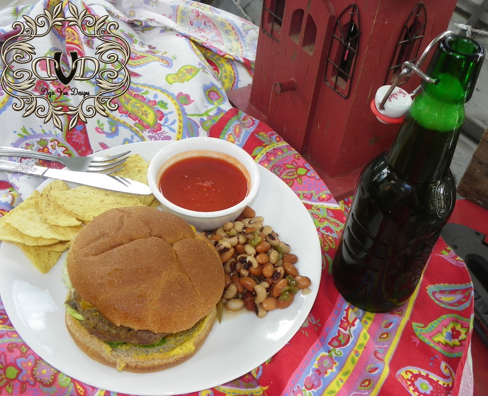 spicey beefage burgers and apple beer