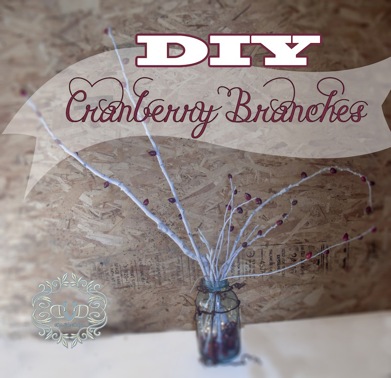 Beautiful DIY Cranberry Branches