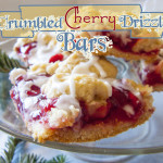 Crumbled Cherry Drizzle Bars