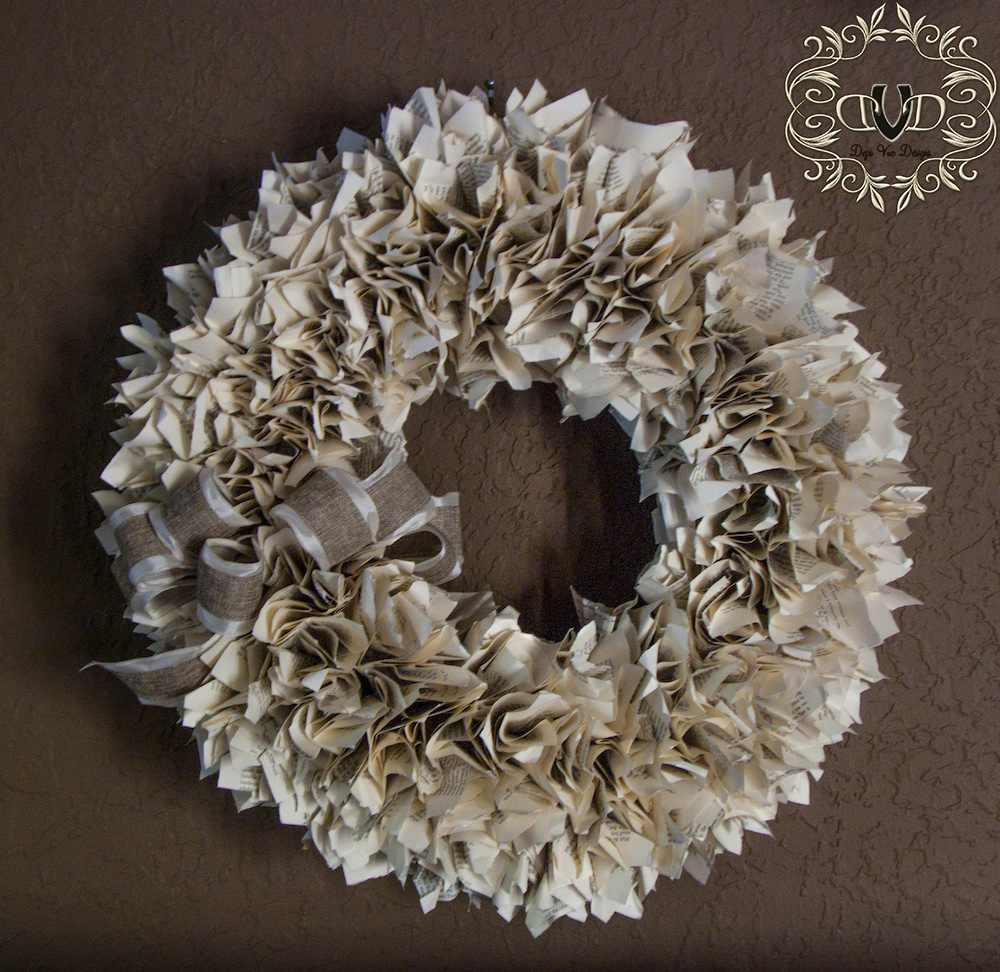 Well read book wreath