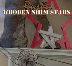 Rustic Wooden Shim Stars