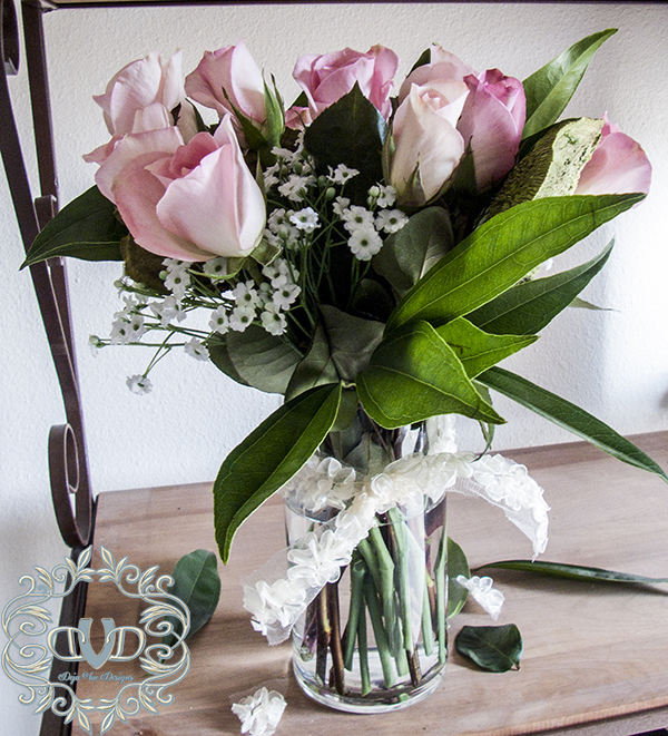 Arranging a discount store rose bouquet
