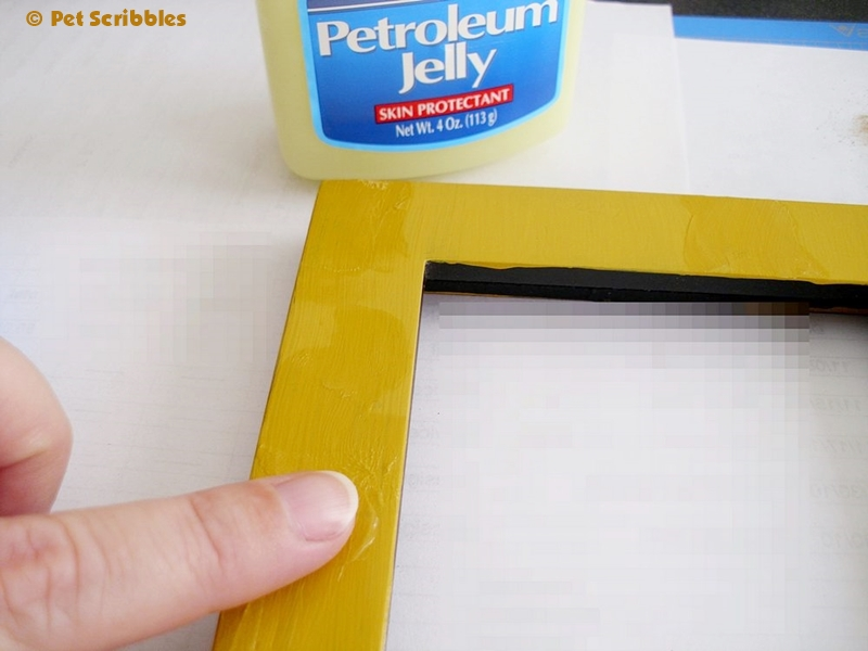 Peeling Paint Technique -  Applying Petroleum Jelly