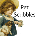 Pet Scribbles button-tiny