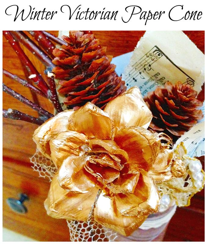 Winter Victorian Paper Cone DIY