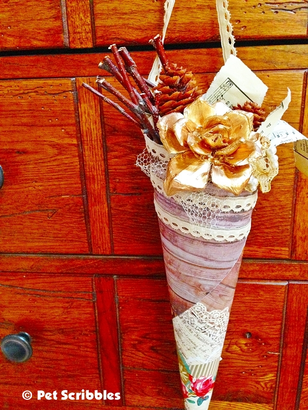 Victorian Paper Cone DIY (14)