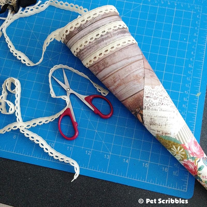 Victorian Paper Cone DIY (5)