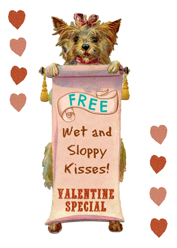 Wet and Sloppy Kisses - free Valentine printable