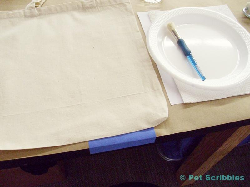 Stenciled Tote Bag DIY Supplies