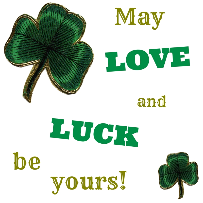 Love and Luck Free Printable for St. Patrick's Day