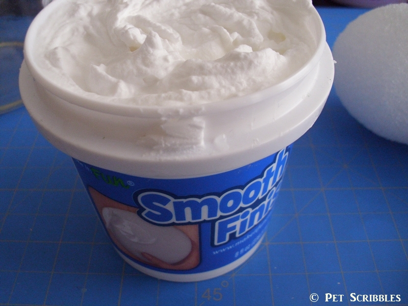 Smooth Finish Paintable Coating for use on Styrofoam.