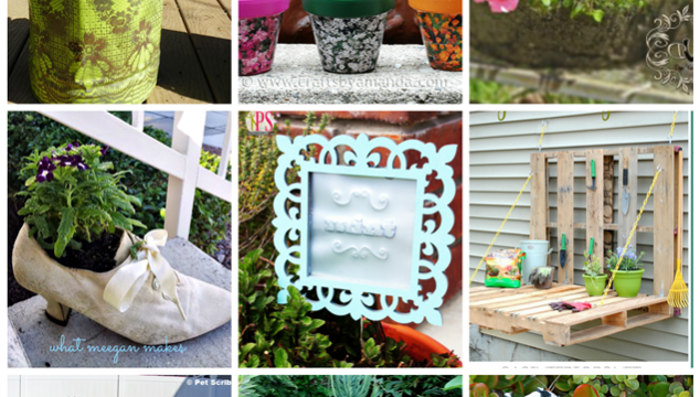 DIY Garden Planters and Garden Art - 9 inspiring DIYs you can make!