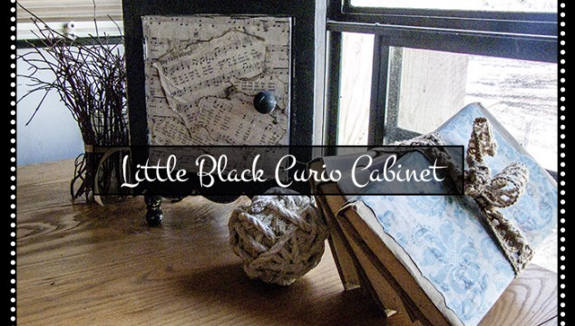 Little Curio Cabinet Makeover