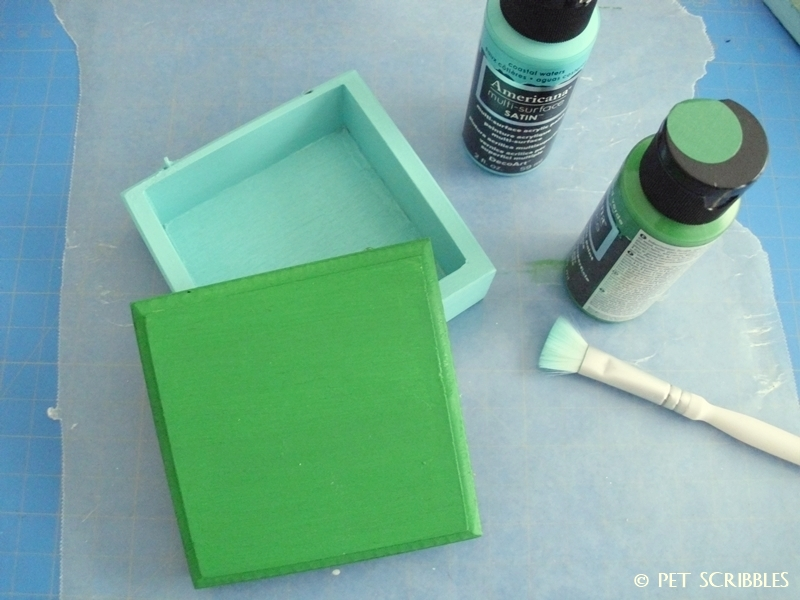 Tiny Painted Wood Craft Box (paint)