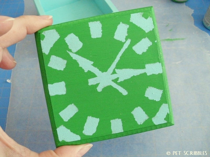 Tiny Painted Wood Craft Box (stencil)