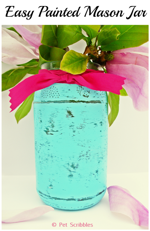 Easy Painted Mason Jar Tutorial