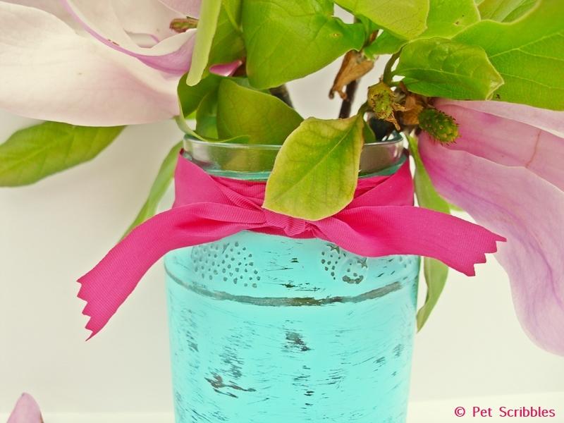Mason Jar Vase DIY