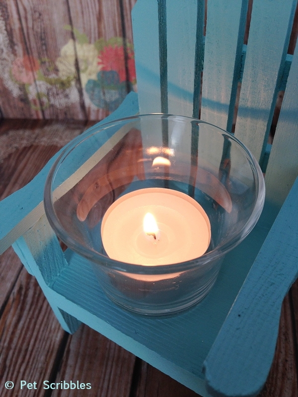 Mini Adirondack Chair Candle Holder