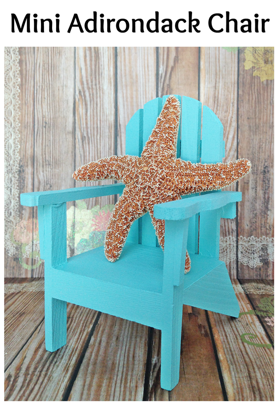 Mini Adirondack Chair: paint your own for easy nautical decor!