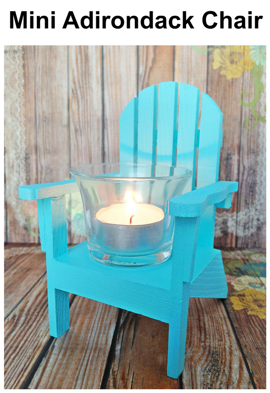 Mini Adirondack Chair Paint Your Own For An Easy Nautical Votive Diy