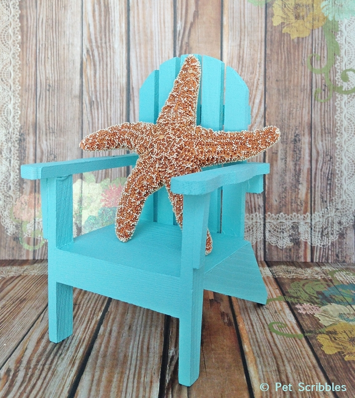 Mini Adirondack Chairs make great additions to your nautical decor!