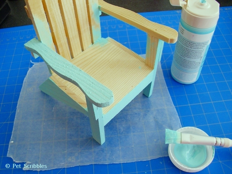 Painting Mini Adirondack Chairs