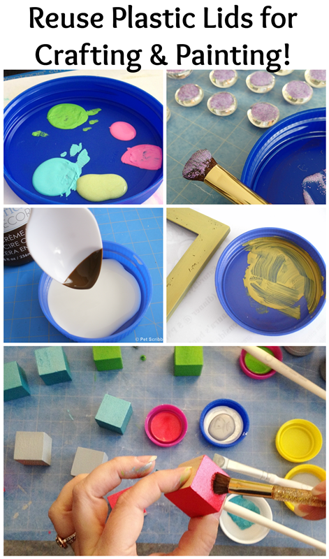 Plastic Lids for Crafting and Painting