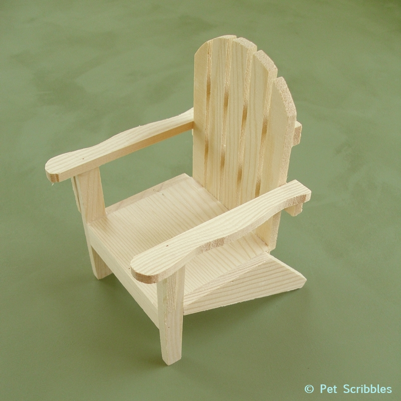 Superb Unfinished Wood Mini Adirondack Chair