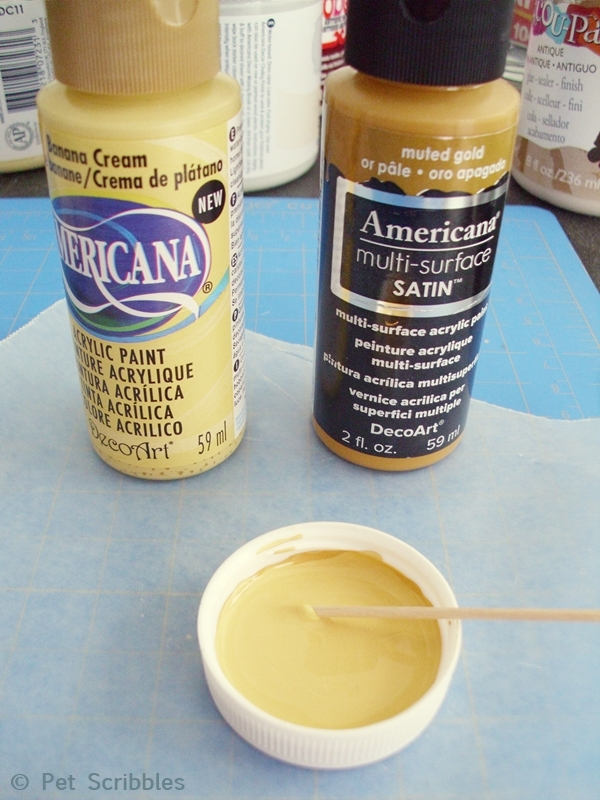 mixing acyrlic paints