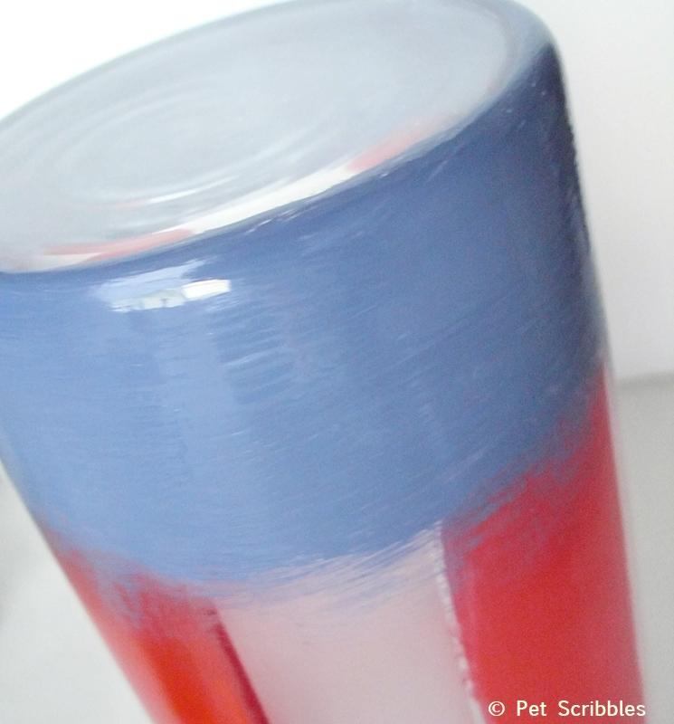 red white and blue luminary