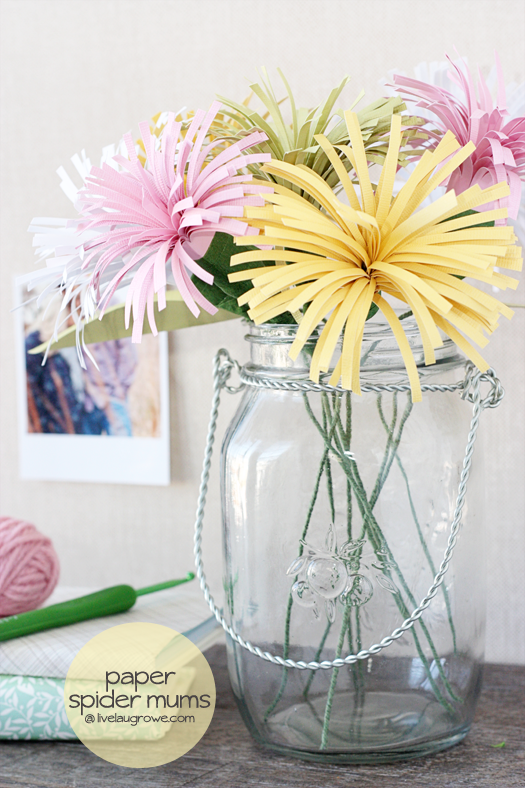 Colorful Paper Spider Mums by Live Laugh Rowe