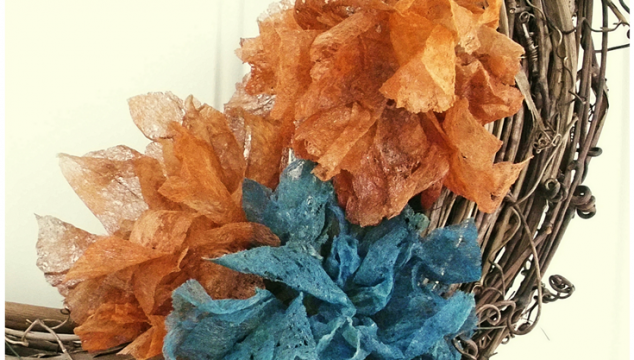 Dryer Sheet Flowers DIY: Shabby Style, by Pet Scribbles